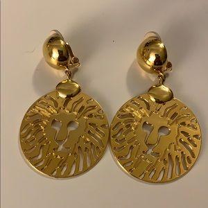 Anne Klein clip on earrings signed